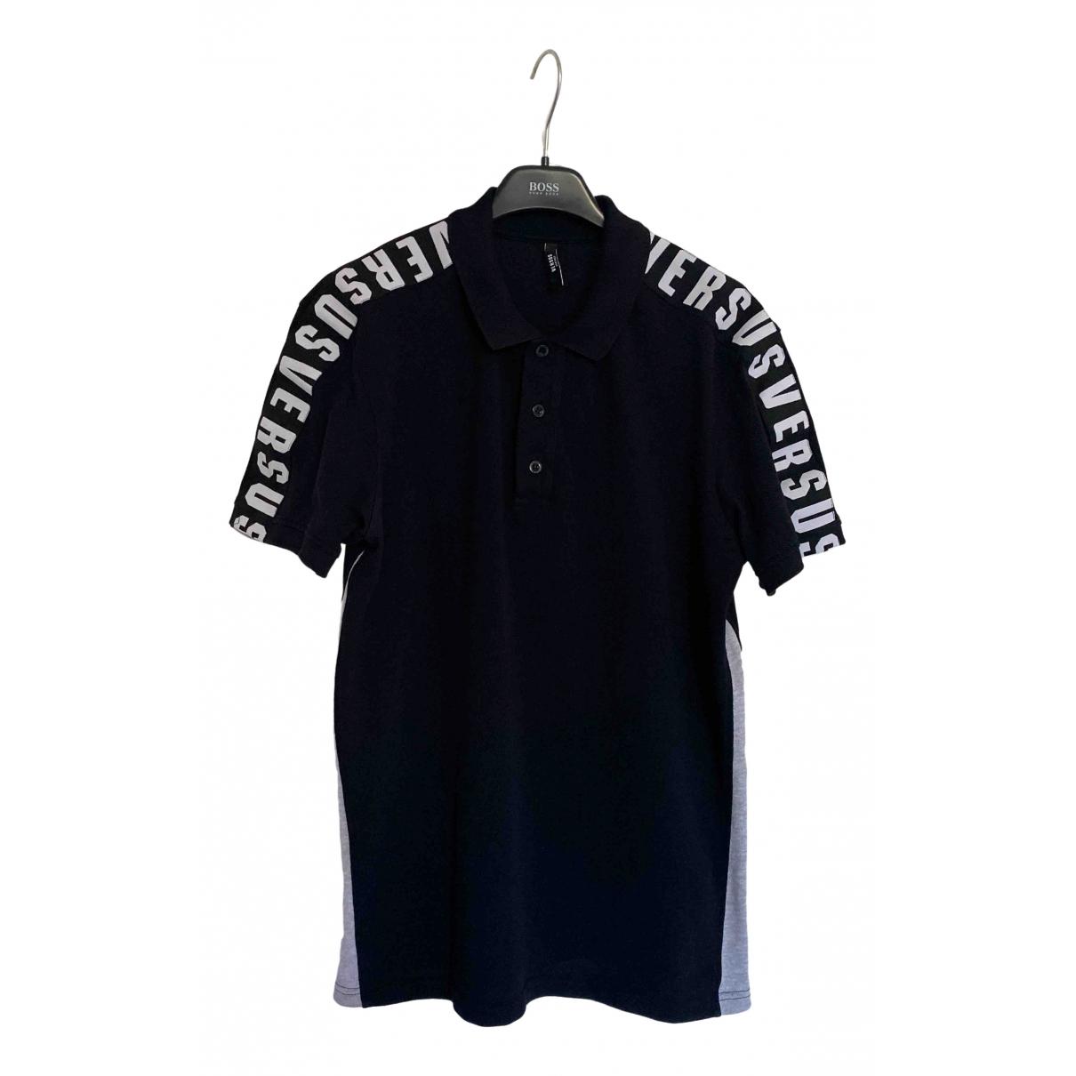 Versus - Polos   pour homme en coton - noir