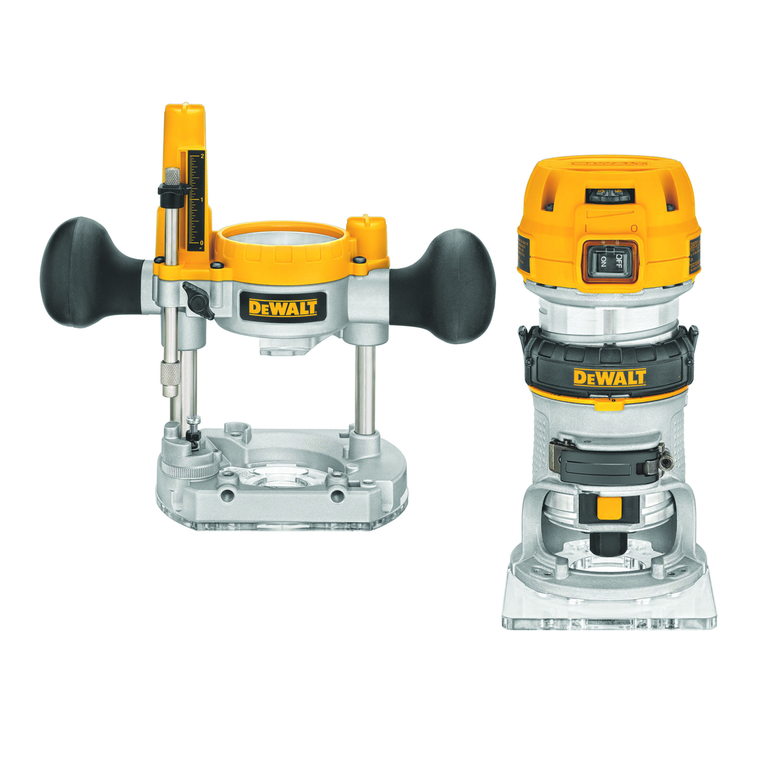 Variable Speed Compact Router with LEDs and Plunge Base, 1.25HP, Model DWP611PK