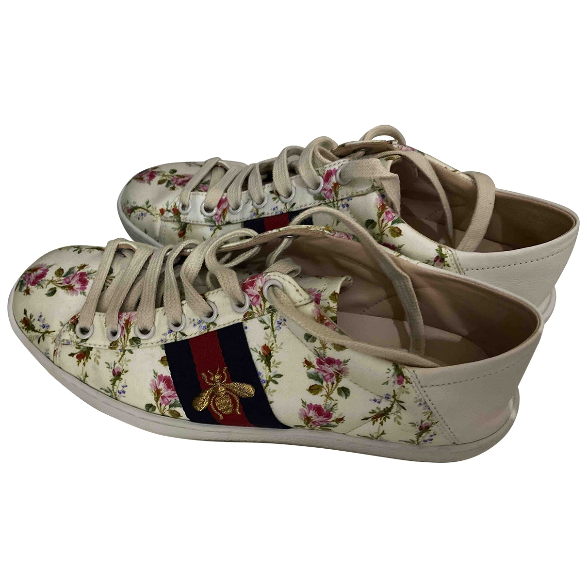 Gucci Ace White Cloth Trainers for Women 37 EU