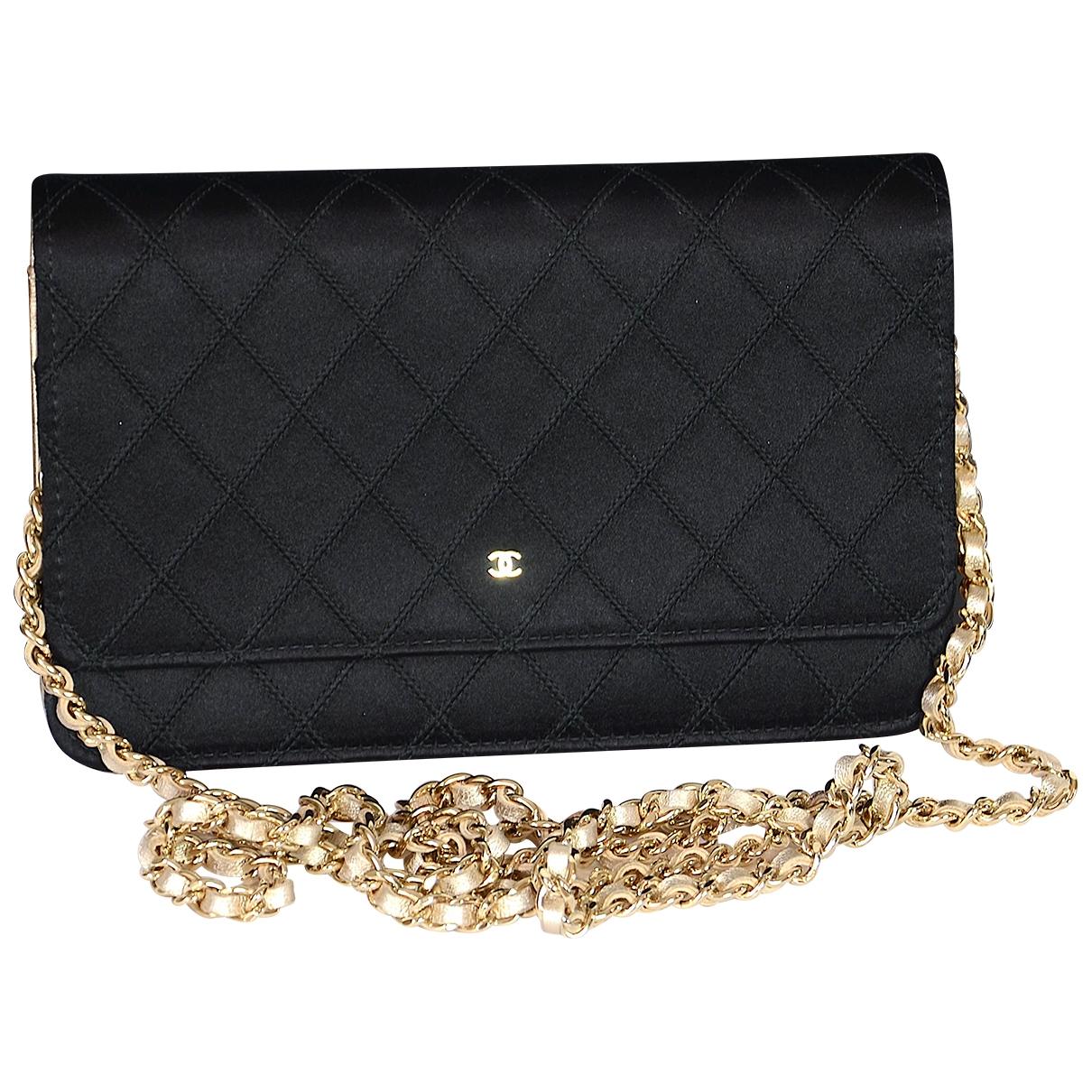 Chanel - Sac a main Wallet on Chain pour femme en toile - noir