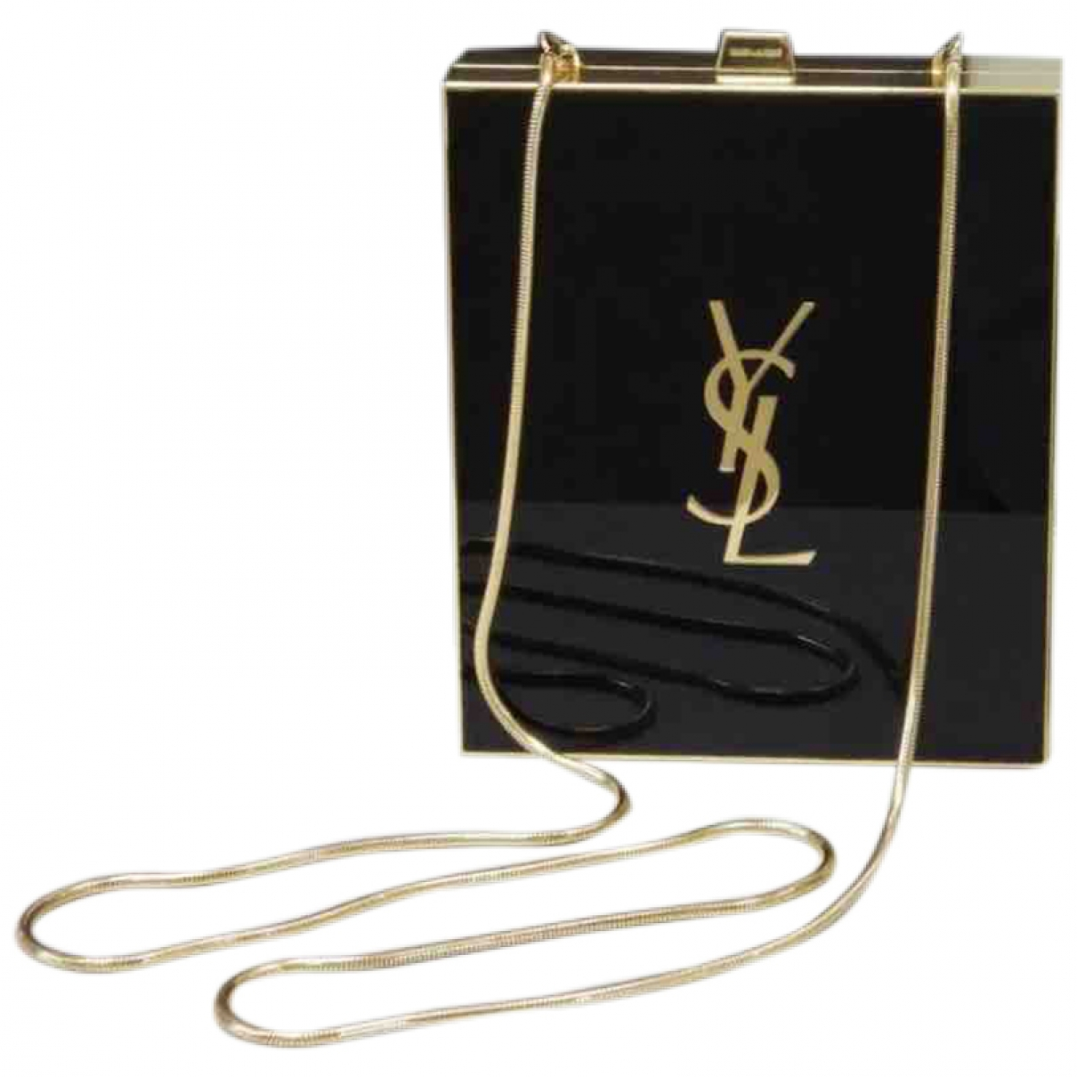 Saint Laurent Tuxedo box Black Metal Clutch bag for Women \N