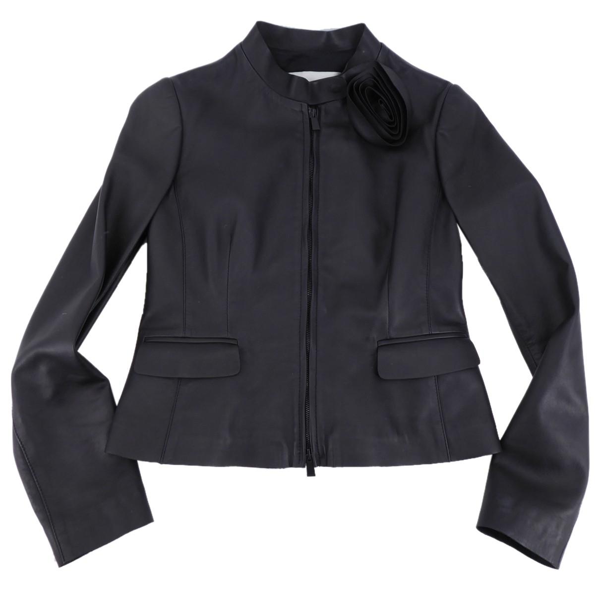 Valentino Garavani \N Black Leather jacket for Women 44 IT