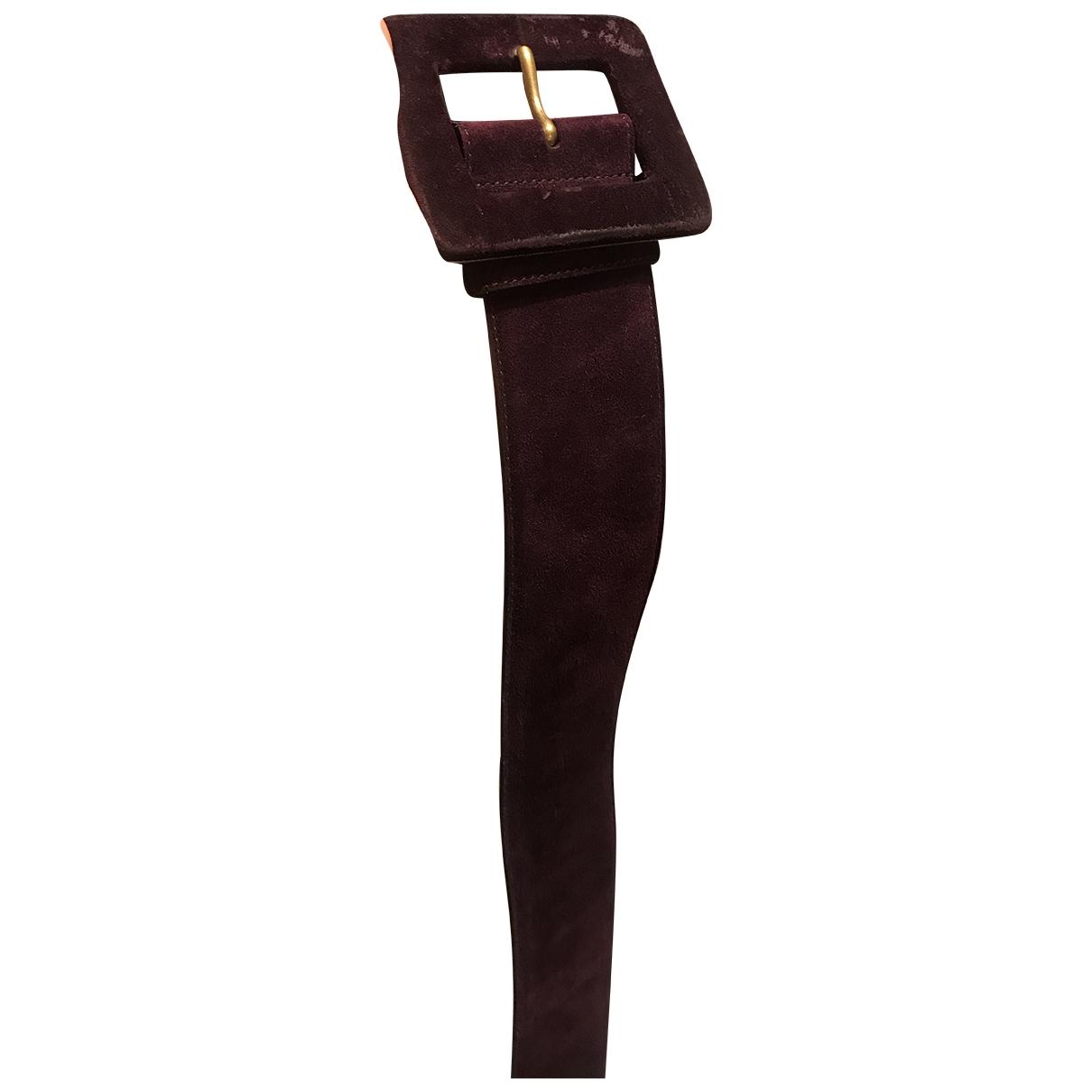 Yves Saint Laurent \N Purple Suede belt for Women 75 cm