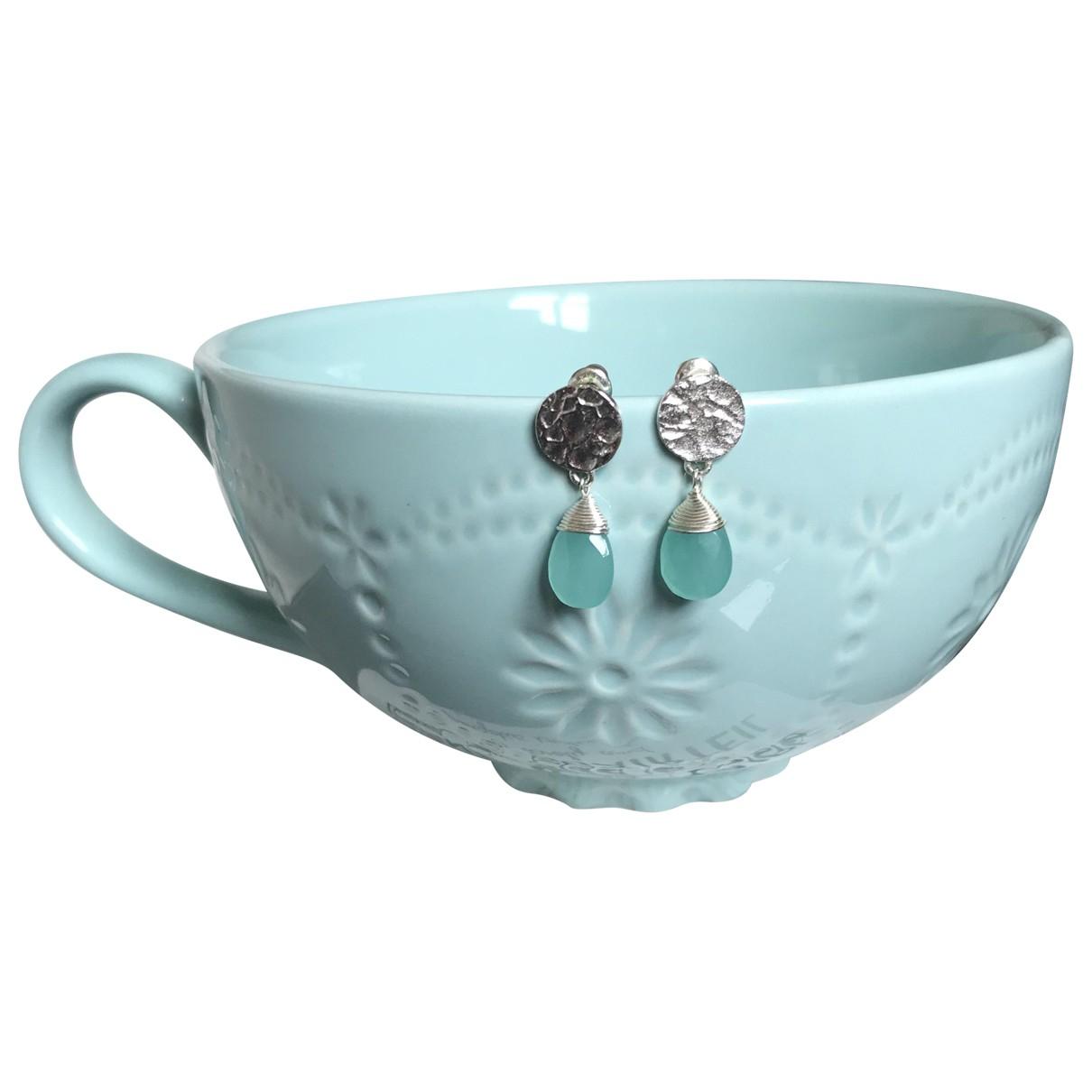 - Boucles doreilles   pour femme en plaque argent - argente