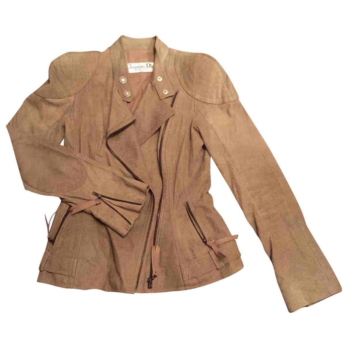 Dior \N Beige Leather jacket for Women 36 FR