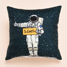 Astronaut Print Cushion Cover Without Filler