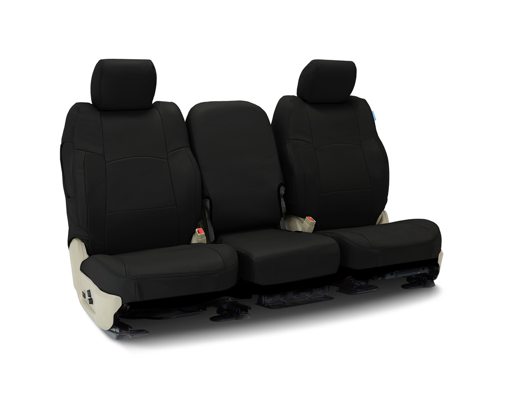 Coverking CSC1L1CH10149 Custom Seat Covers 1 Row Genuine Leather Black Front Chevrolet Silverado 1500 2019-2021
