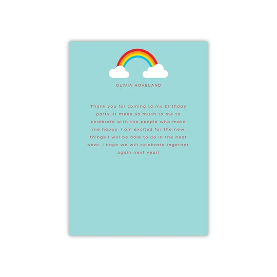 Gartner Studios® Personalized Rainbow Flat Kid Thank You | Michaels®