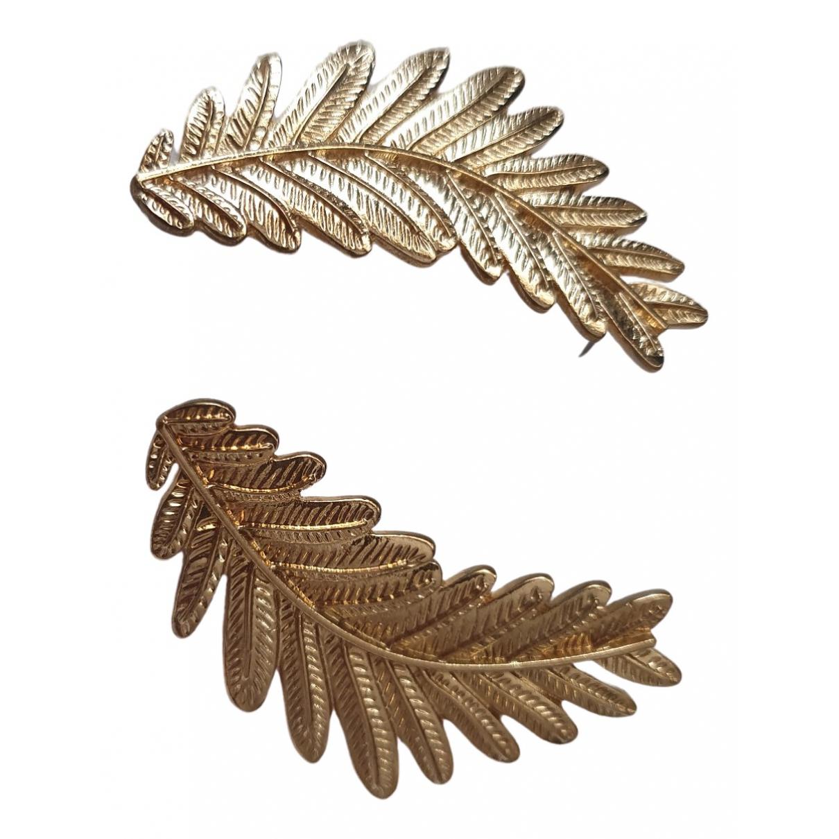 Uterque - Boucles doreilles   pour femme en metal - dore