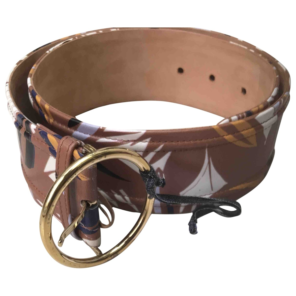 Agnona \N Brown Leather belt for Women 33 Inches