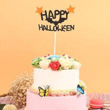1pc Halloween Slogan Cake Topper