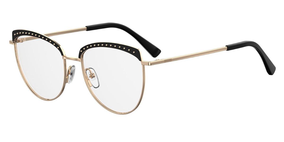 Moschino MOS541/F Asian Fit 2M2 Women's Glasses Black Size 54 - Free Lenses - HSA/FSA Insurance - Blue Light Block Available