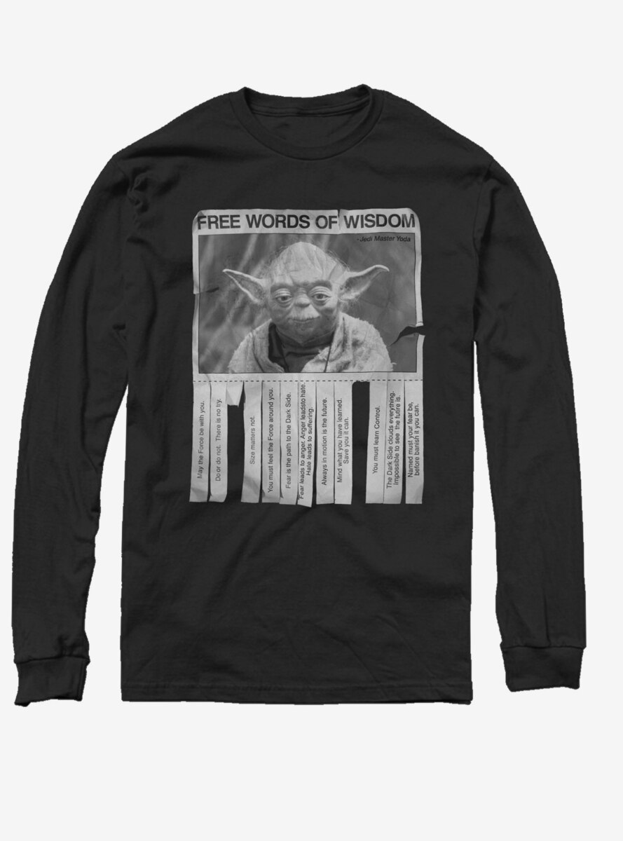 Star Wars Words of Wisdom Long-Sleeve T-Shirt
