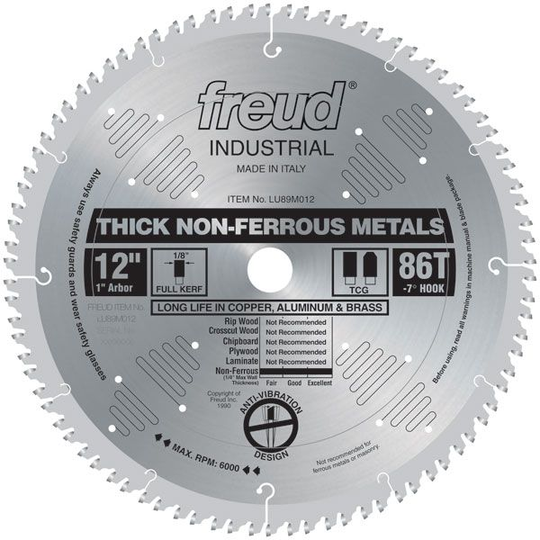 LU89M012 Circular Saw Aluminium Saw Blade 12