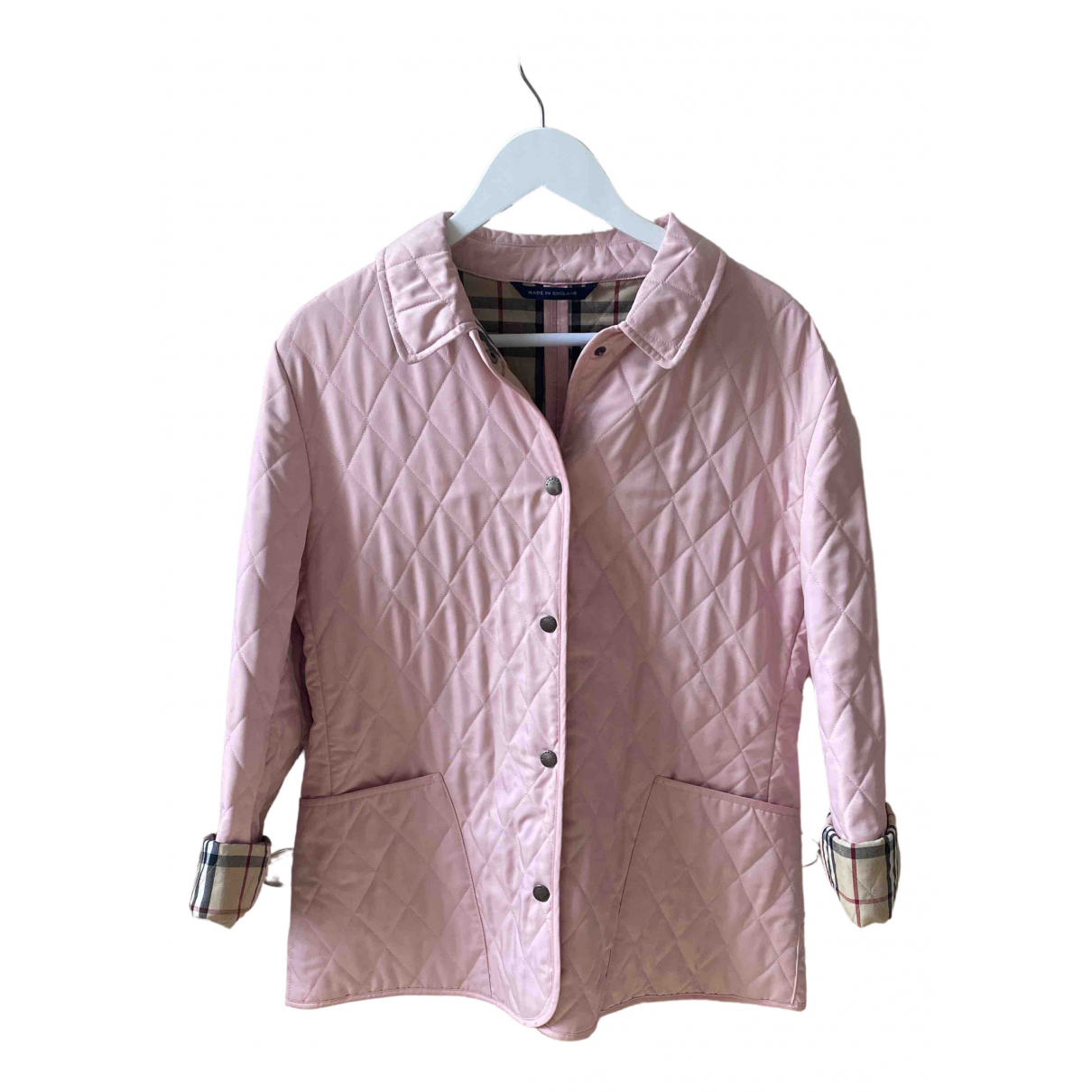 Burberry \N Jacke in  Rosa Polyester