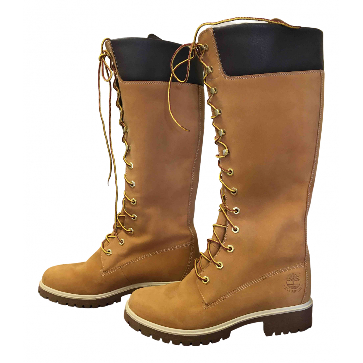 Timberland \N Camel Leather Boots for Women 38.5 EU