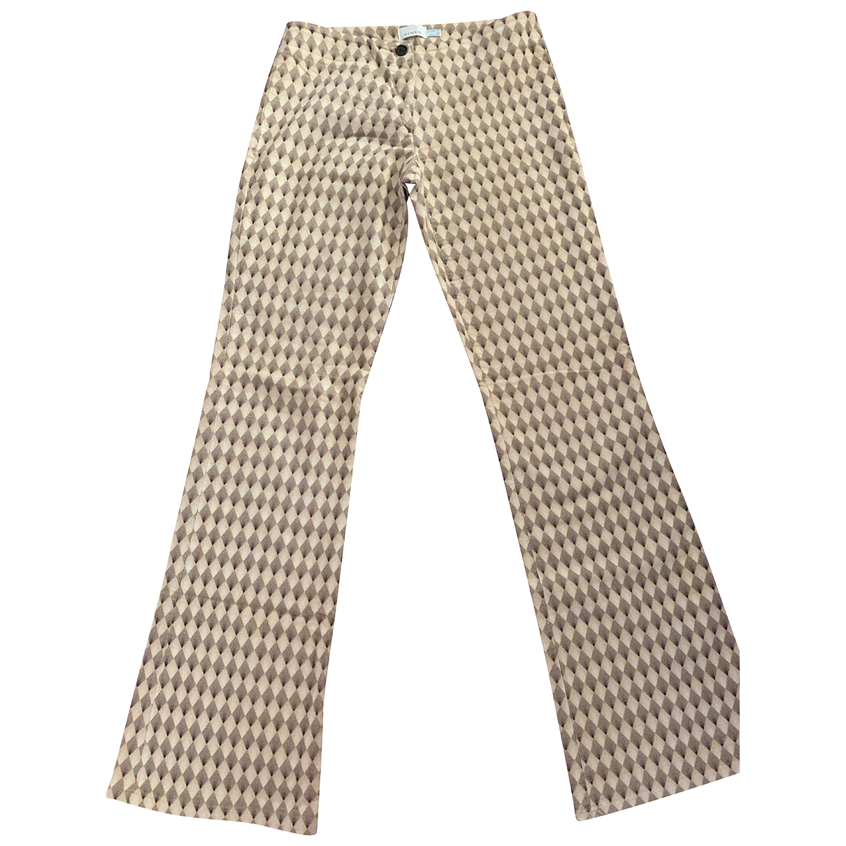Pantalon en Algodon Beige Pinko