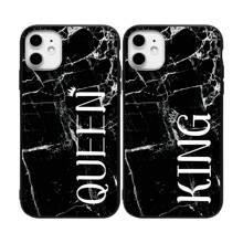 2pcs Couple Marble Pattern iPhone Case