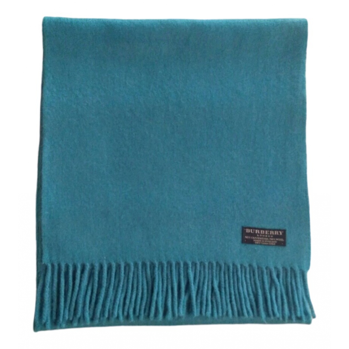 Burberry - Foulard   pour femme en laine - turquoise