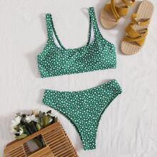 Ditsy Floral Print Bikini Swimsuit