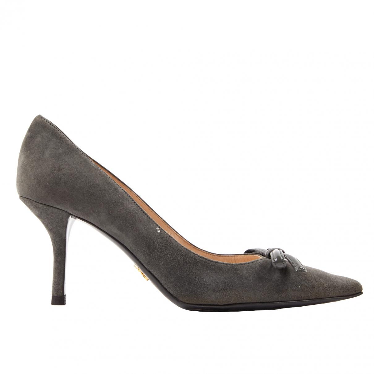 Prada \N Grey Suede Heels for Women 39 EU