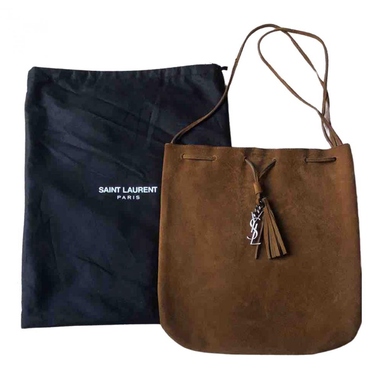 Saint Laurent \N Handtasche in  Braun Veloursleder