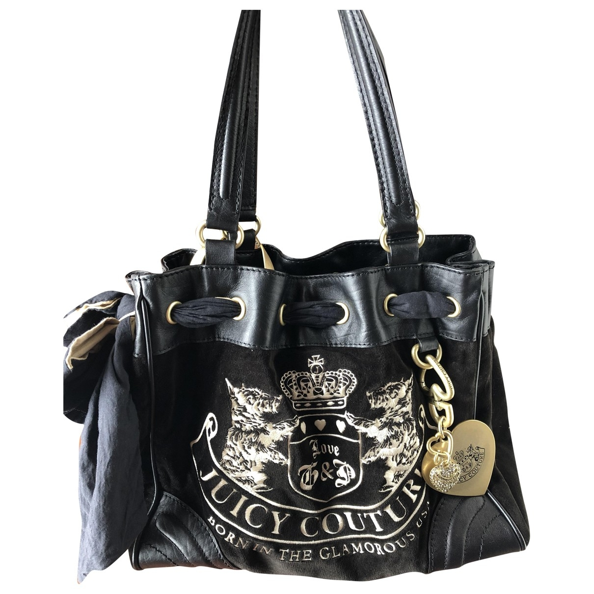 Juicy Couture \N Black Velvet handbag for Women \N