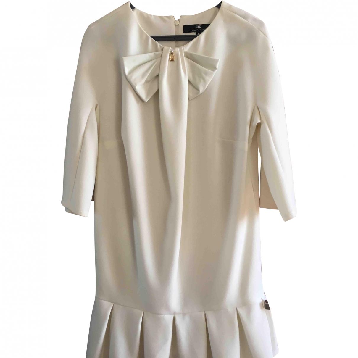 Elisabetta Franchi \N White Cotton dress for Women 42 IT