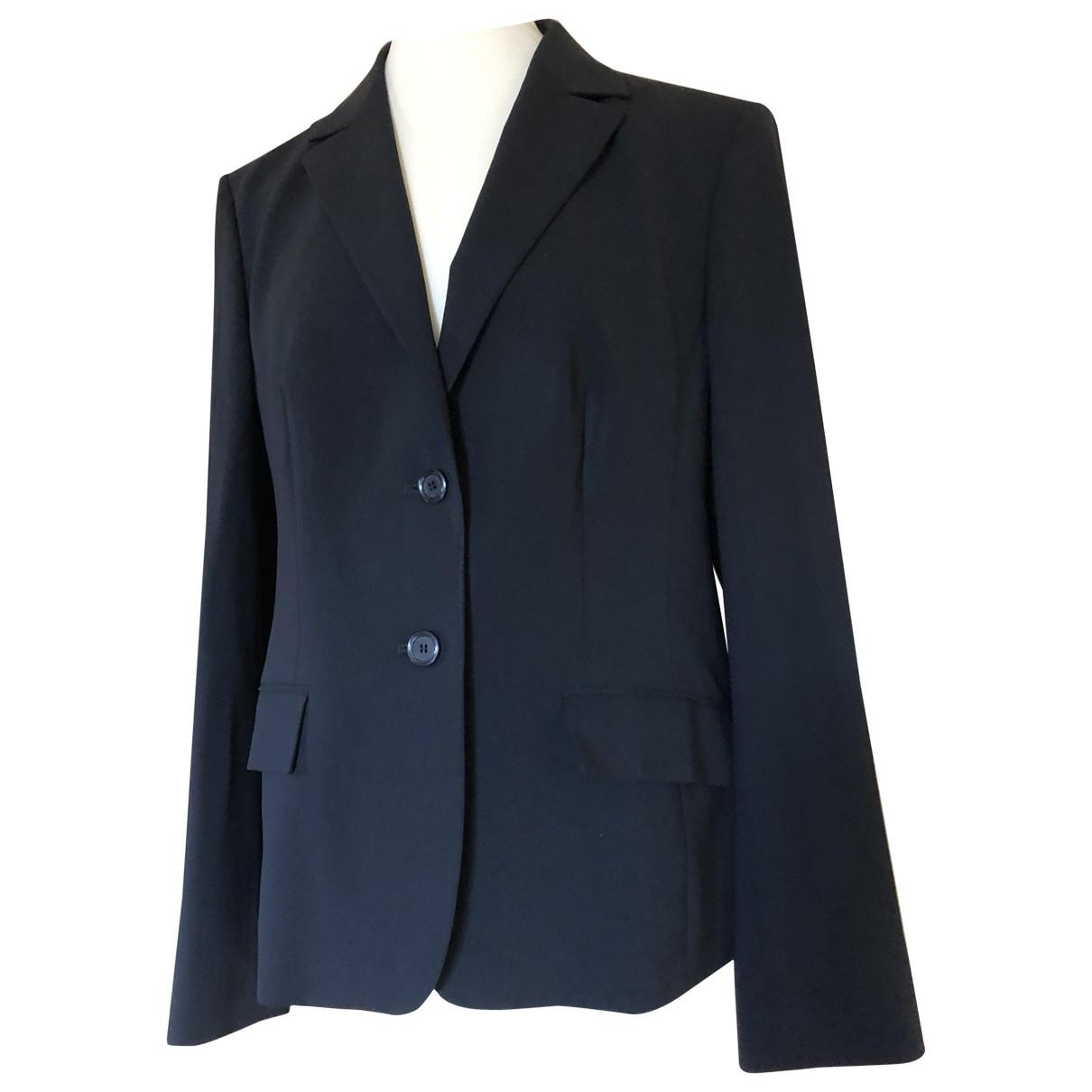 Hugo Boss \N Black Wool jacket for Women 46 FR