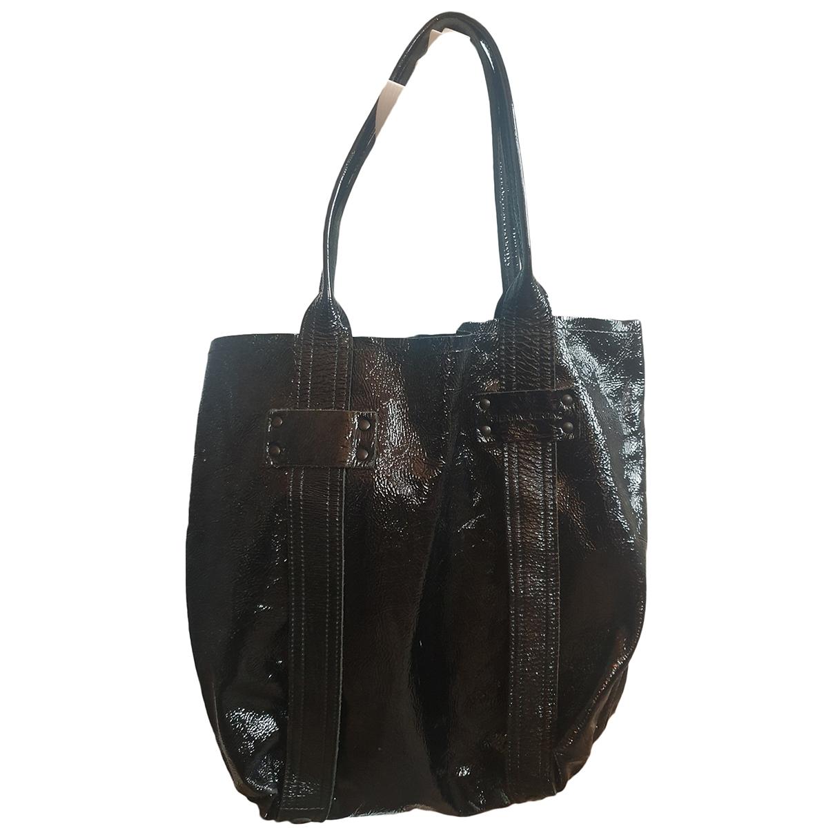 Stephane Verdino \N Handtasche in  Schwarz Leder