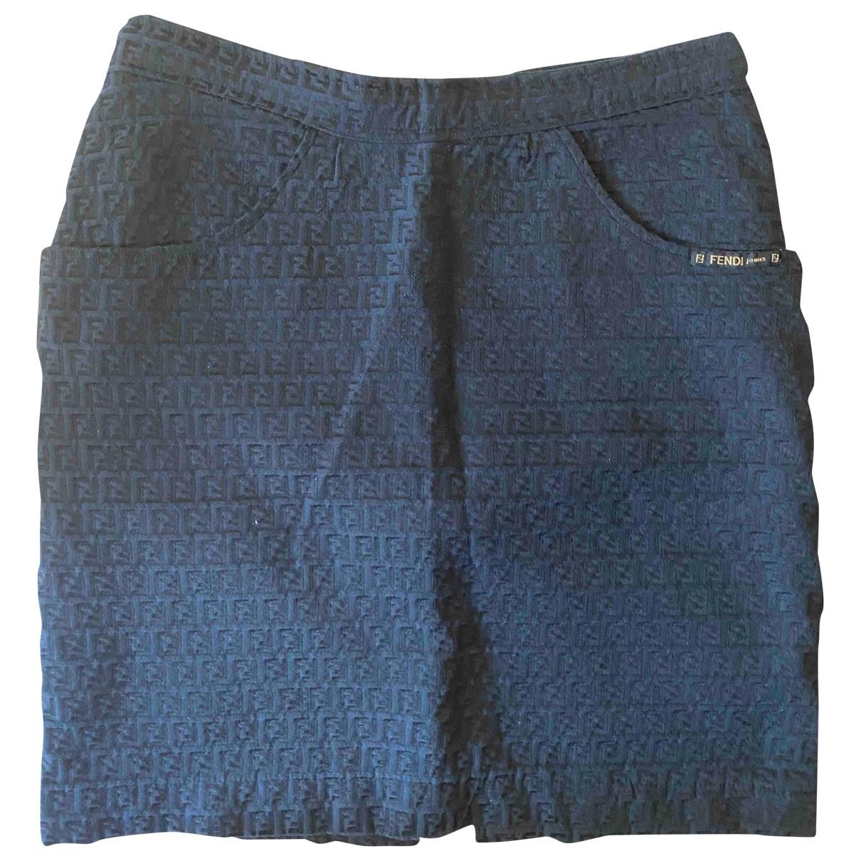 Fendi \N Rocke in  Blau Baumwolle