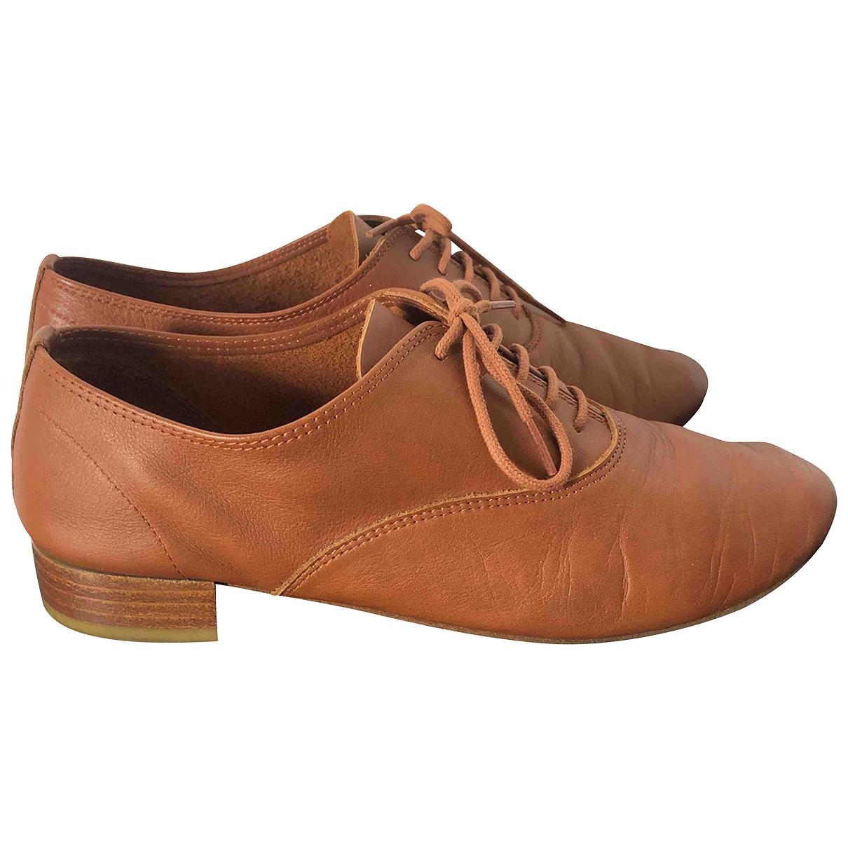 Repetto - Derbies   pour femme en cuir - marron