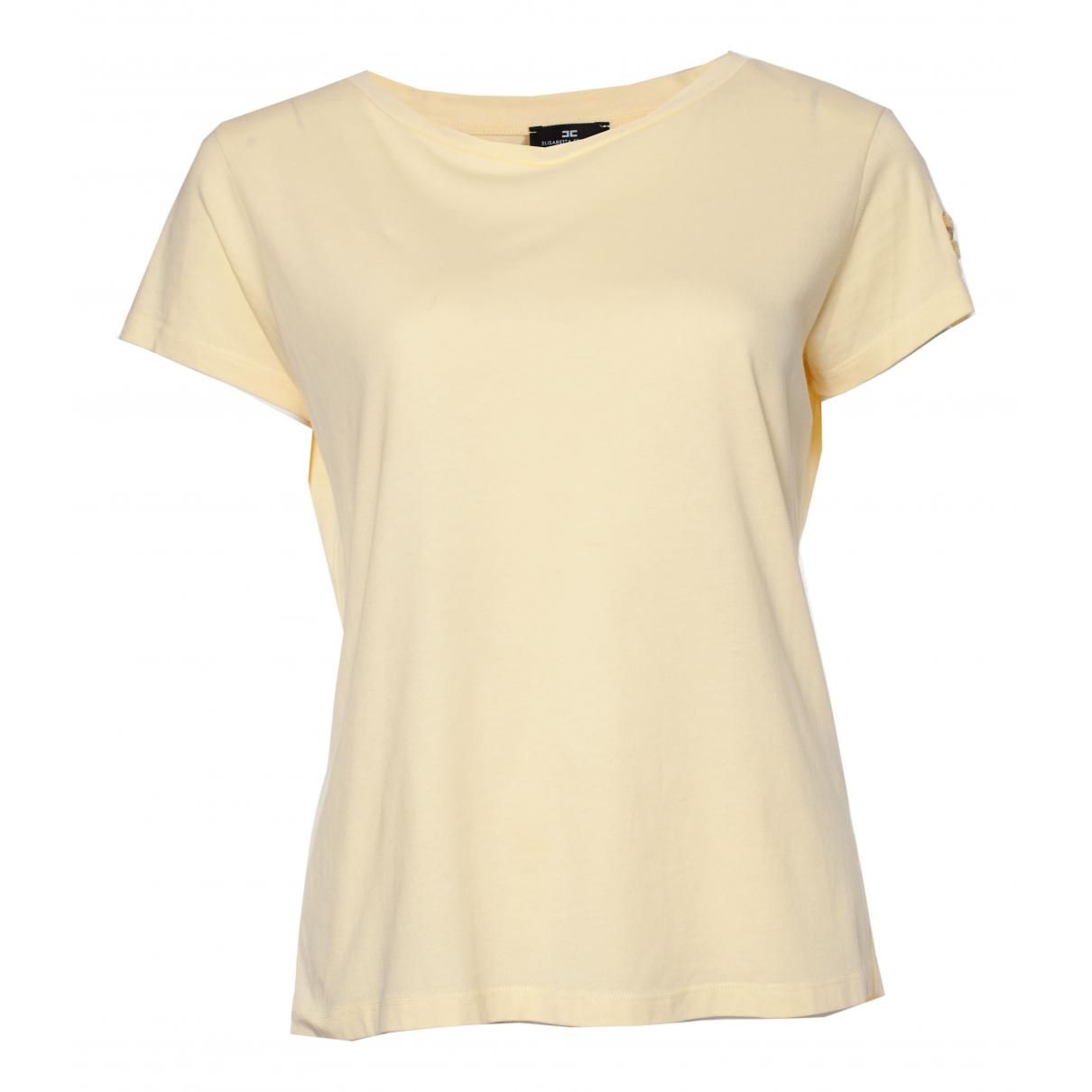 Elisabetta Franchi - Top   pour femme en coton - jaune
