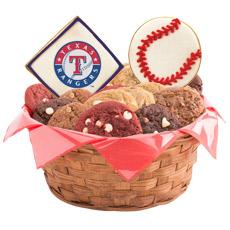 MLB Texas Rangers Cookie Basket