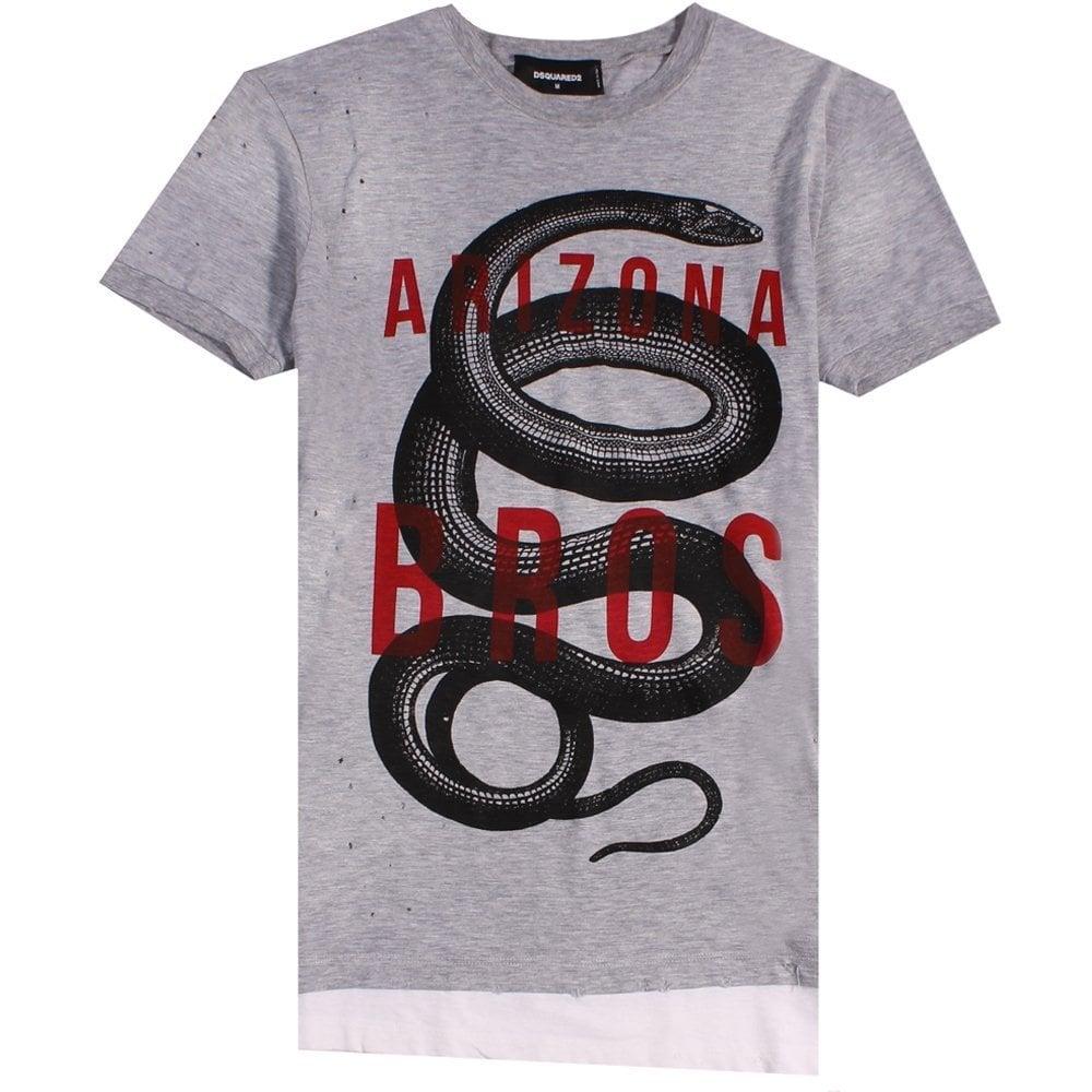 "Dsquared2 ""Arizona Bros"" T-Shirt Grey Colour: GREY, Size: LARGE"