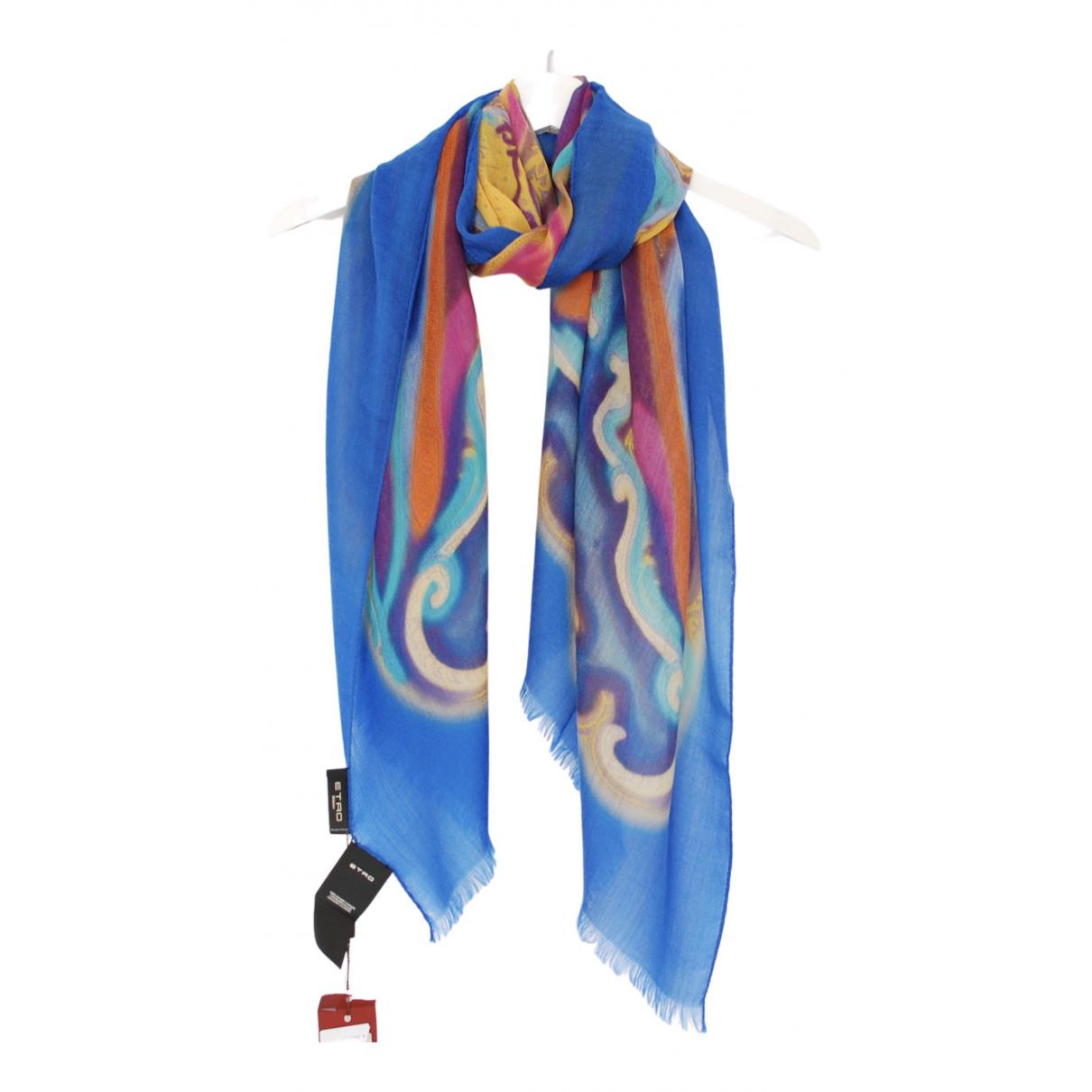 Etro - Foulard   pour femme en cachemire - bleu
