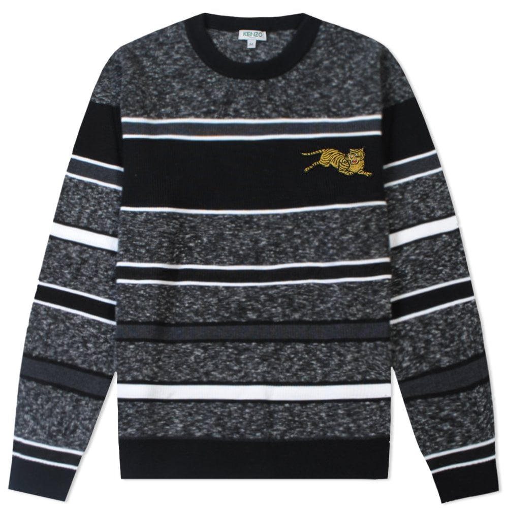 Kenzo Jumping Tiger Knitted Jumper Colour: GREY, Size: MEDIUM