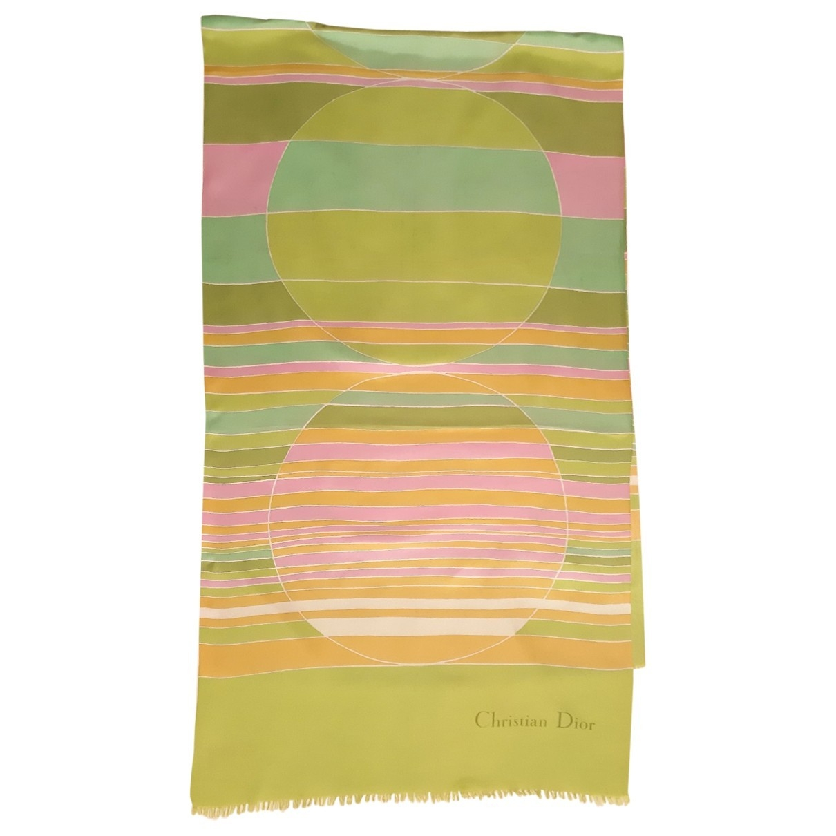 Dior - Foulard   pour femme en soie - vert