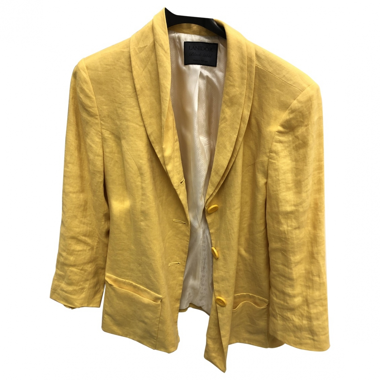 Non Signé / Unsigned \N Yellow Linen jacket for Women 42 FR