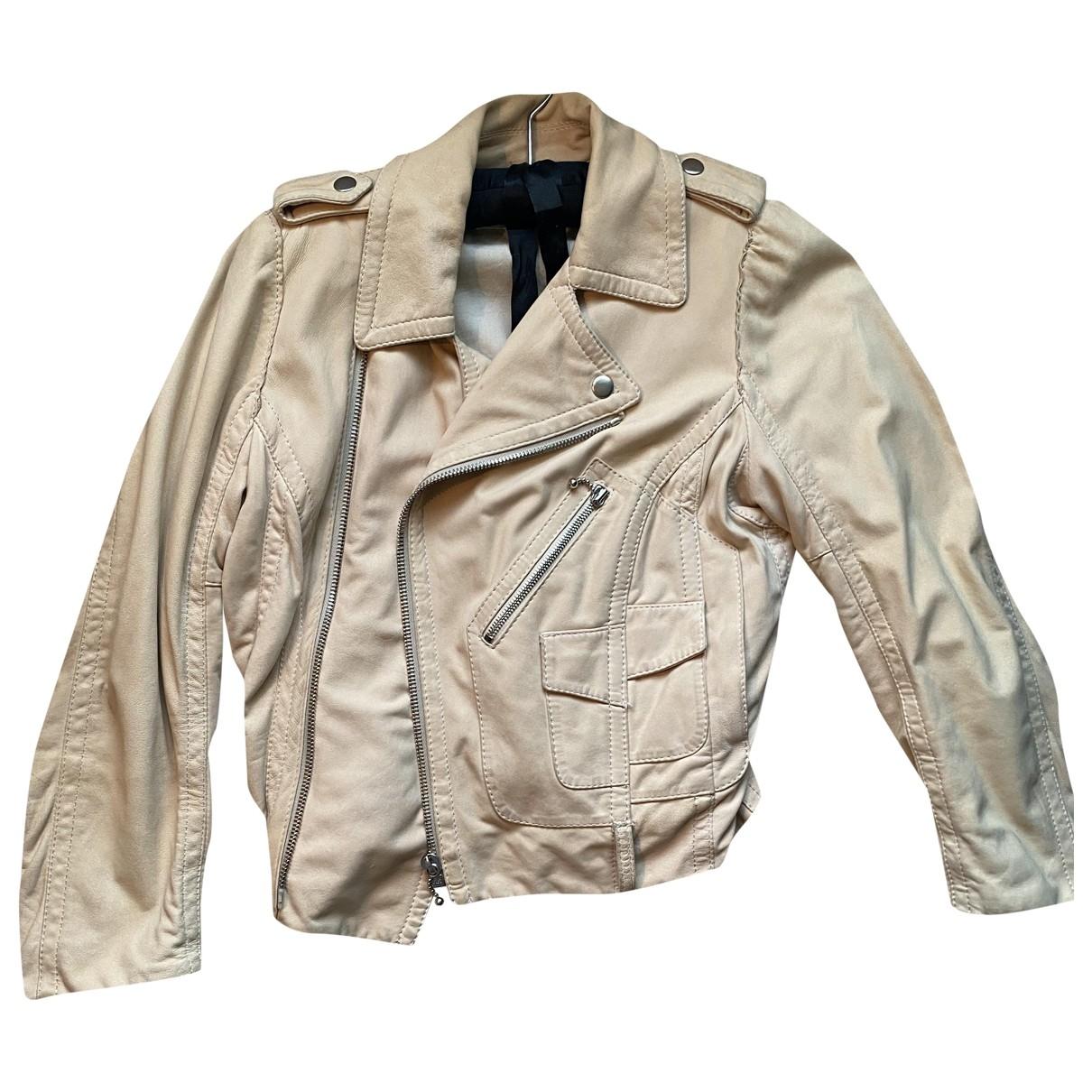 Marc Jacobs - Veste   pour femme en cuir - beige