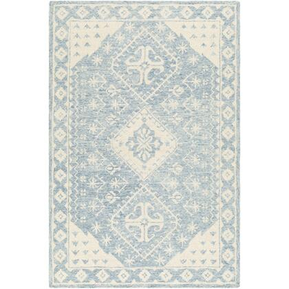 Granada GND-2320 8 x 10 Rectangle Traditional Rug in Pale Blue  Beige  Sky