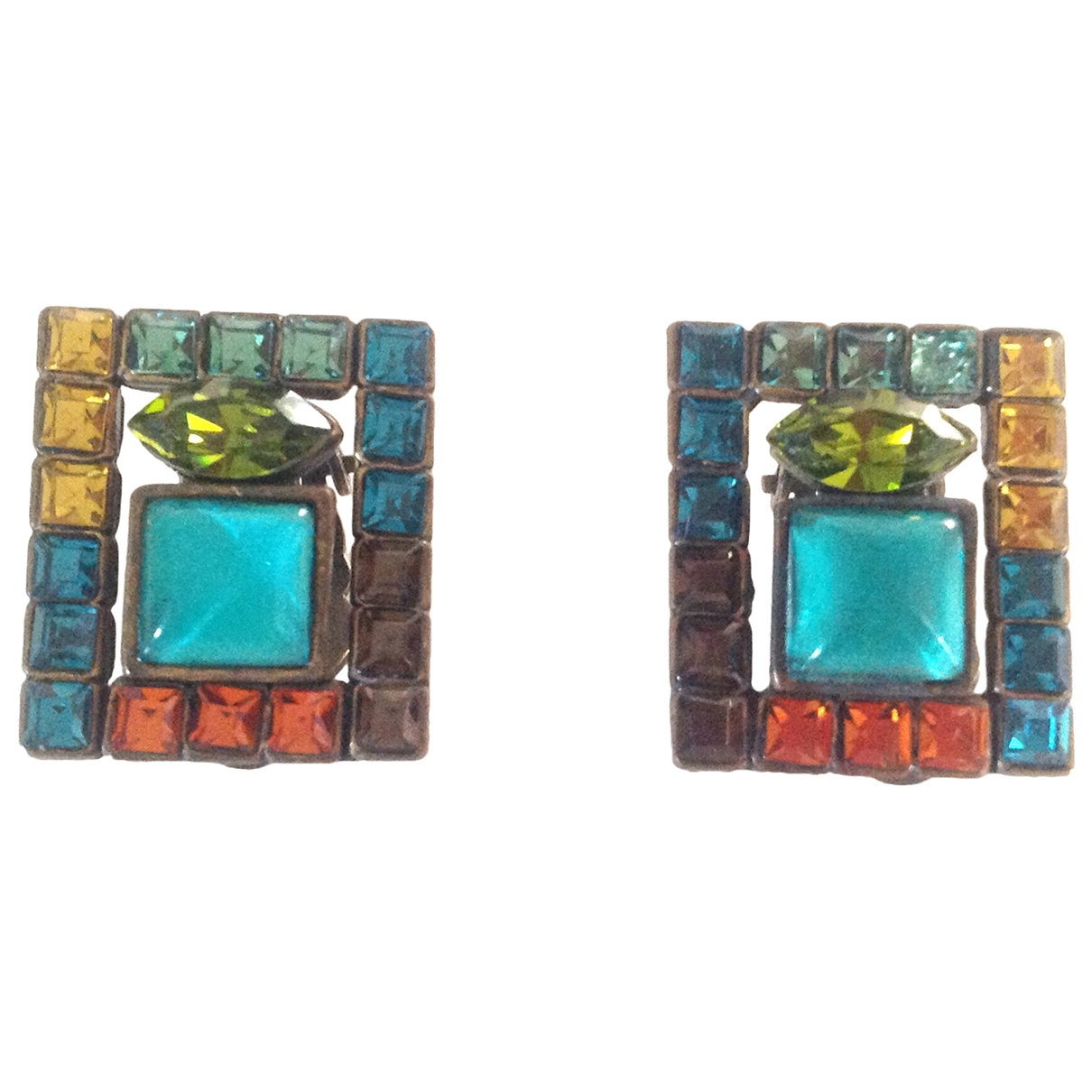 Poggi - Boucles doreilles   pour femme en metal - multicolore