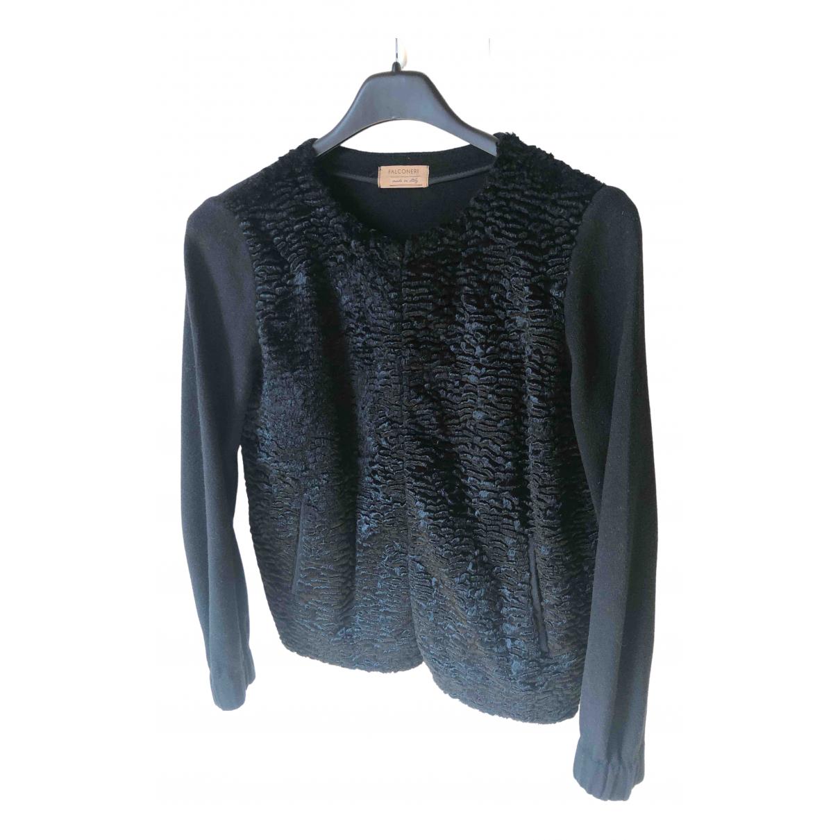 Falconeri - Veste   pour femme en laine - noir