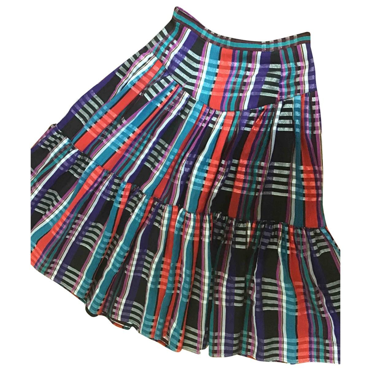Non Signé / Unsigned \N Multicolour Cotton skirt for Women 40 FR