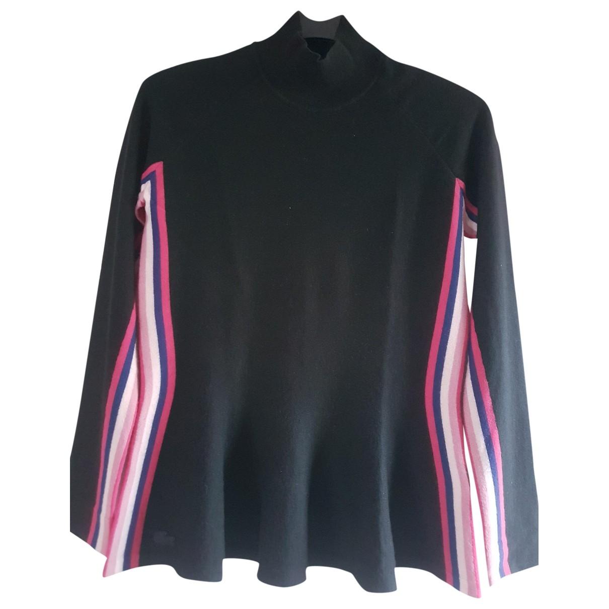 Lacoste - Pull   pour femme en laine - noir
