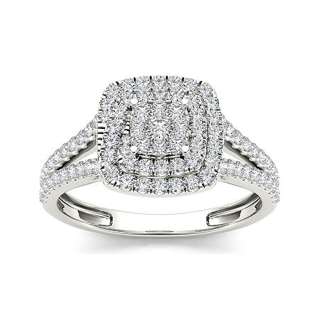 1/2 CT. T.W. Diamond 10K White Gold Engagement Ring, 8 1/2 , No Color Family