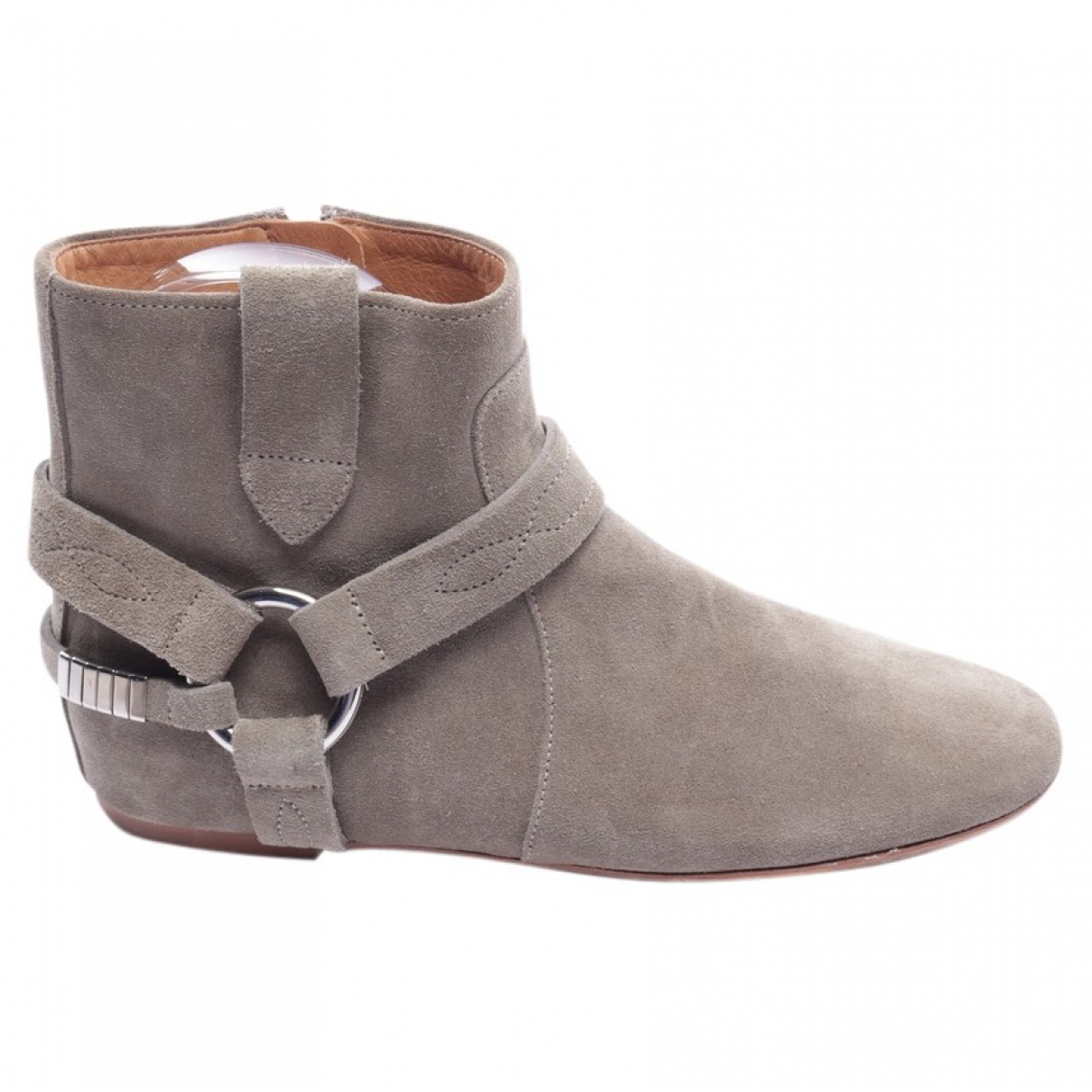 Isabel Marant Etoile \N Green Leather Ankle boots for Women 37 EU