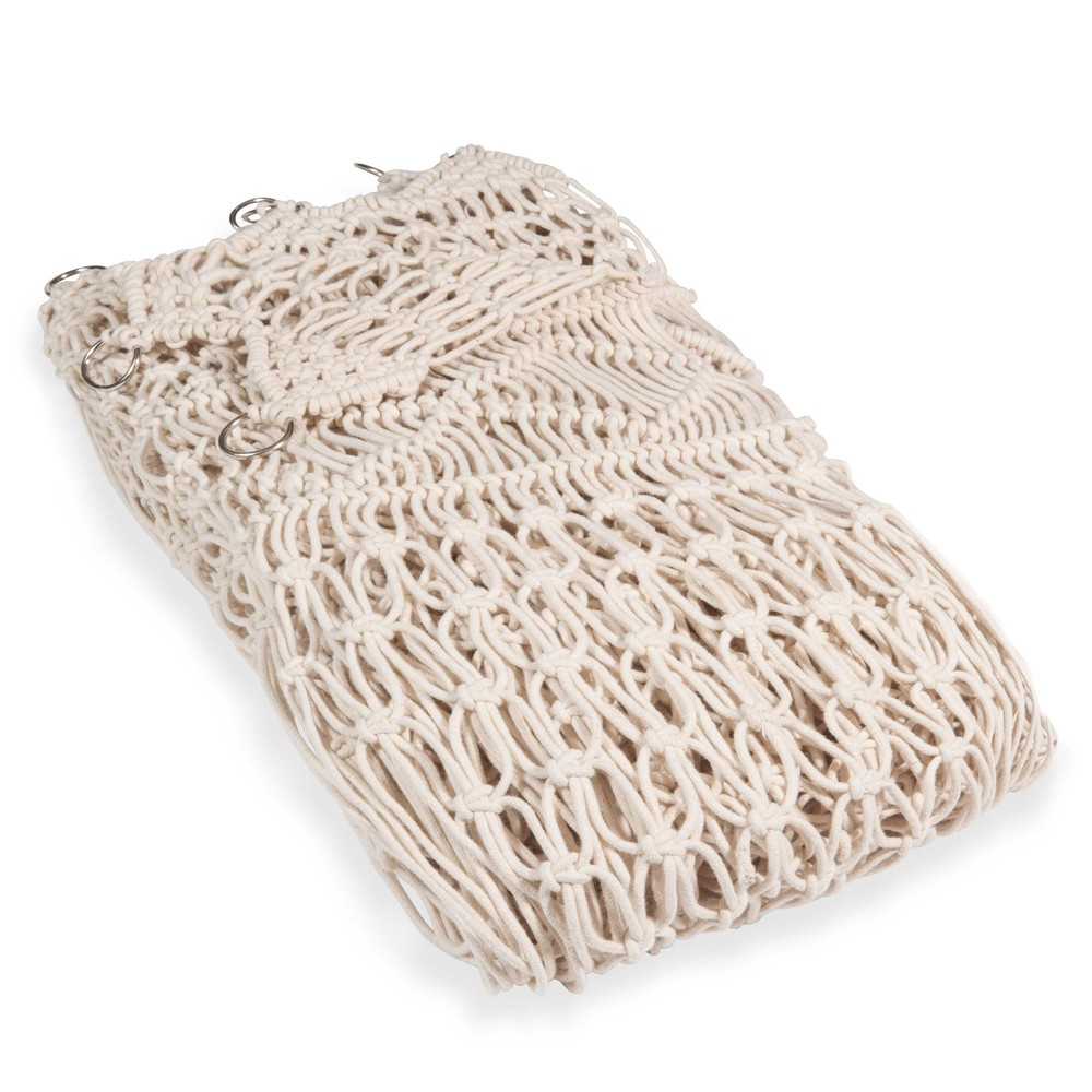 Makramee-Vorhang aus naturfarbener Baumwolle 105x250, 1 Vorhang