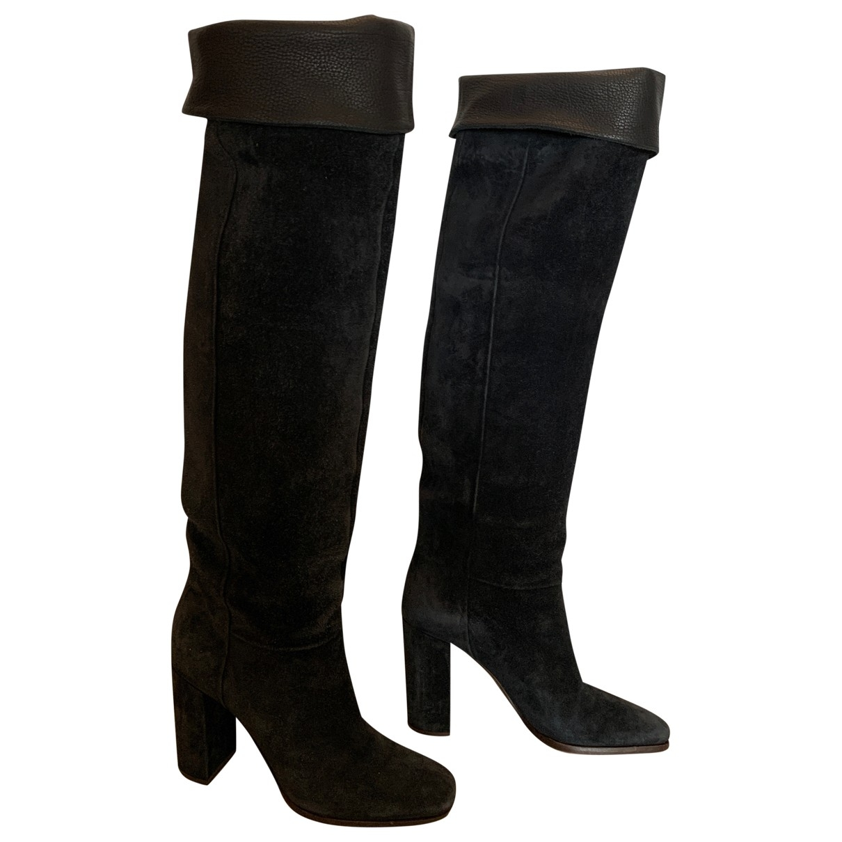 Michel Perry \N Navy Suede Boots for Women 38 EU