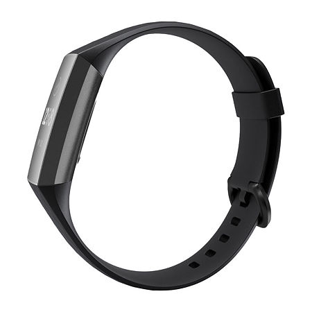 Fitbit Charge 3 Mens Gray Smart Watch-Fb409gmbk, One Size , No Color Family